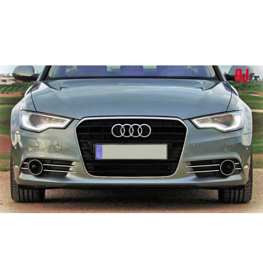 Baguette chromée pour antibrouillards Audi A6 Série 4 Avant 10-15 & Audi A6 Série 4 Berline 10-15
