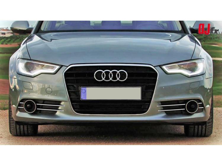 Fog lights chrome trim Audi A6 Série 4 Avant 10-15 & Audi A6 Série 4 Berline 10-15