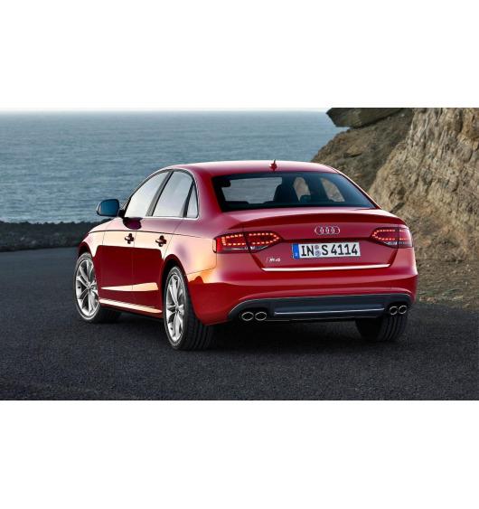Chrom-Zierleiste für Kofferraum Audi S4 08-11 série 3 & Audi S4 11-16 série 3 phase 2