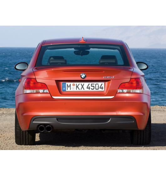 Trunk chrome trim BMW Série 1 E81 07-11 & BMW Série 1 E82 07-13 coupé