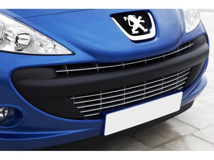 Moldura de calandria cromada Peugeot 206 plus +