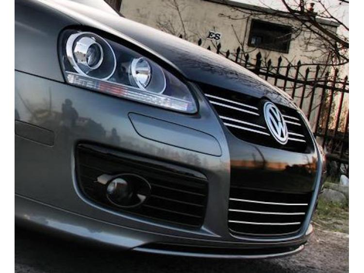 Zier-Chromleiste für Kühlergrill-Unterteil VW Fox Golf 1/2/3/4/5 GTI/Jetta/Phaeton/Scirocco/Sharan/T