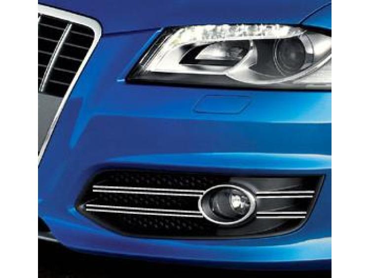 Double baguette chromée pour antibrouillards Audi S3 06-21 & Audi S3 sportback 06-21
