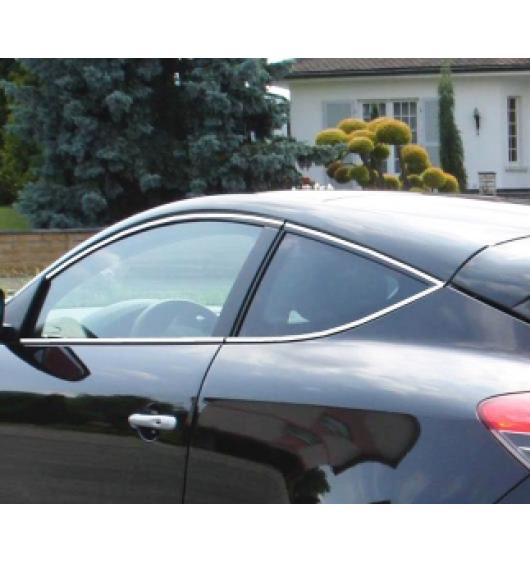 Fascia cromata di contorno dei vetri laterali Renault Mégane 3 coupé