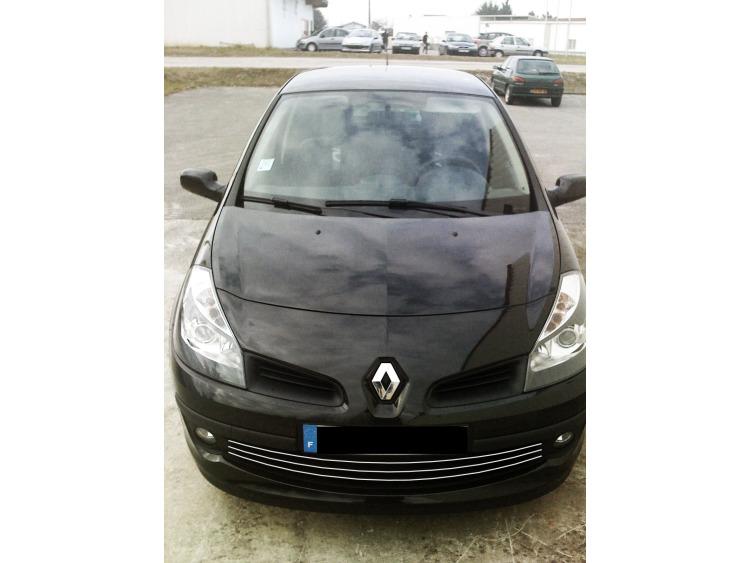 Lower radiator grill chrome trim Renault Clio 3