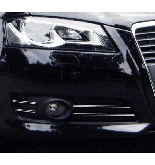 Fog lights dual chrome trim Audi A3 Série 2 Phase 2 08-12 & Audi A3 Série 2 Phase 2 Sportback 08-1