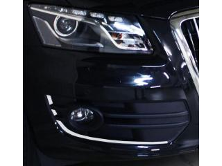 Chrome moulding trim for fog lights contours
