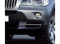 Double baguette chromée pour antibrouillards BMW X5