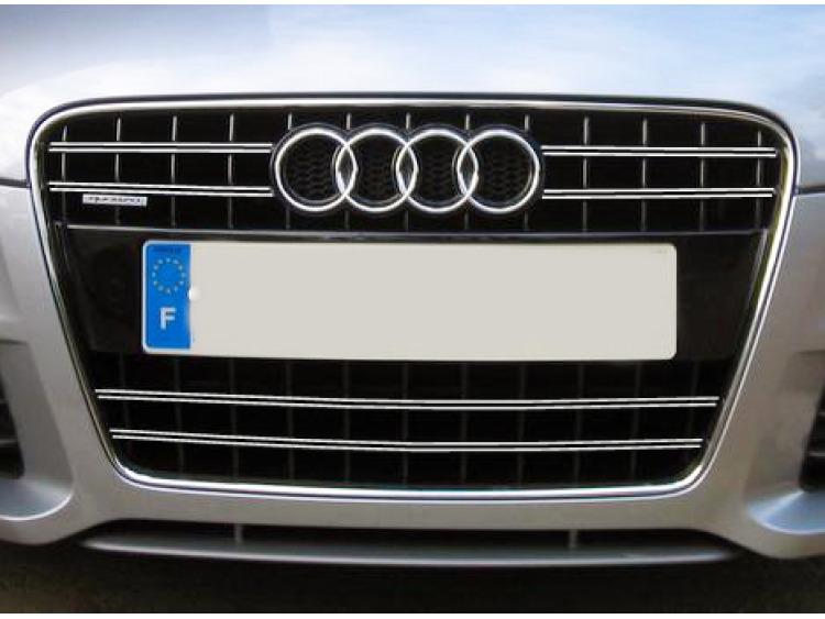 Doble moldura de calandria cromada Audi TT Série 2 06-14 Audi TT RS Audi TTS