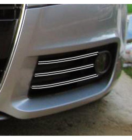 Double baguette chromée pour antibrouillards Audi TT Série 2 06-14