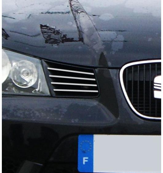 Baguette de calandre extérieure chromée Seat Ibiza 01-08