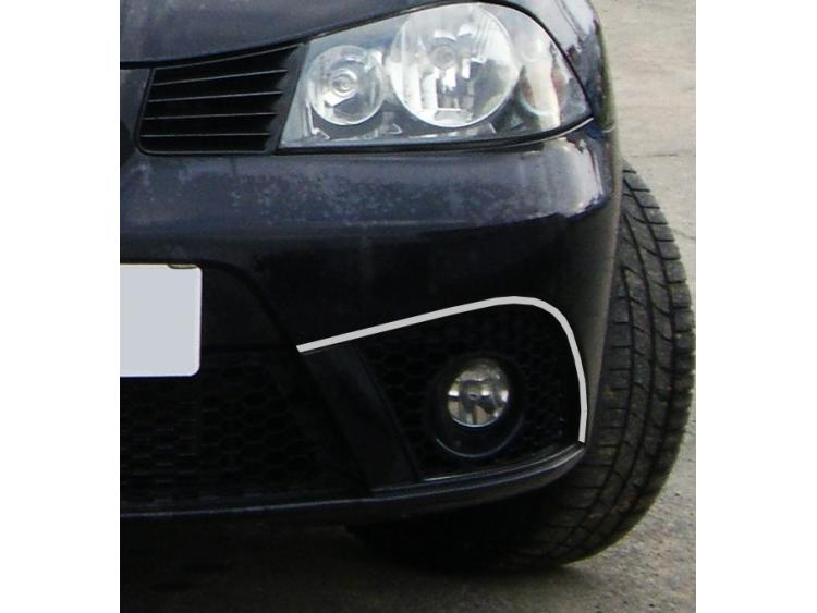 Zier-Chromleiste für Nebelscheinwerfer Seat Ibiza 01-08