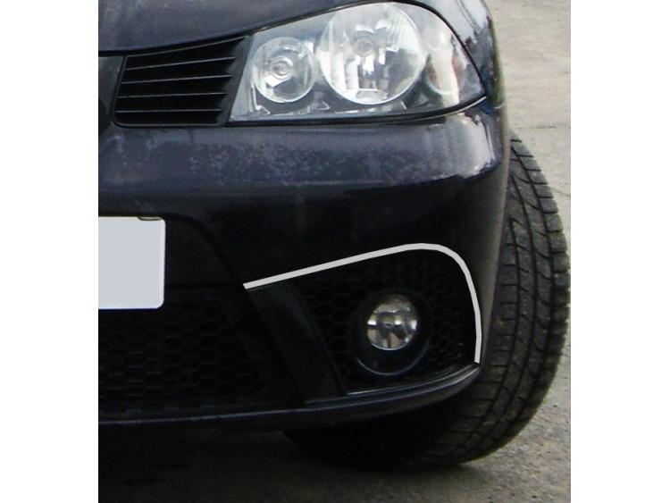 Fog lights chrome trim Seat Ibiza 01-08