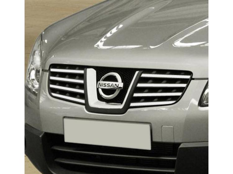 Upper radiator grill chrome trim Nissan Qashqai +2 08-10 Qashqai +2 phase 2 10-14/+2 phase 3/07-10/p