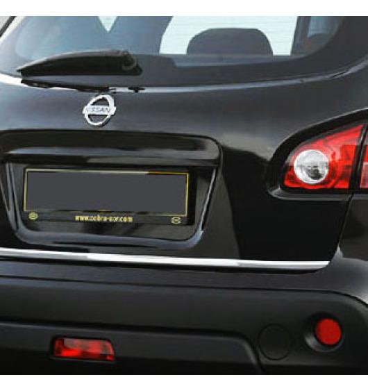 Trunk chrome trim Nissan Qashqai +2 08-10/+2 phase 2 10-14/+2 phase 3/07-10/phase 2 10-14/phase 3
