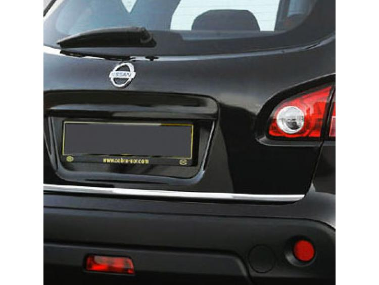 Chrom-Zierleiste für Kofferraum Nissan Qashqai +2 08-10 Qashqai +2 phase 2 10-14/+2 phase 3/07-10/ph