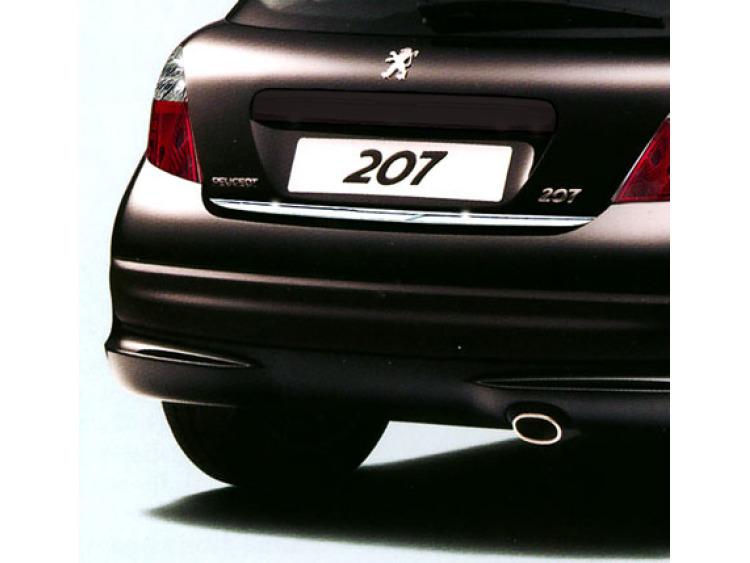 Fascia per bagagliaio cromata Peugeot 207 06-09 Peugeot 207 09-21 Peugeot 207 CC 06-09 Peugeot 207 C