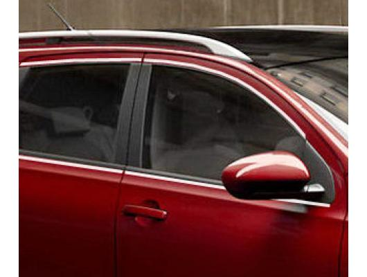 Baguette chromée de contour des vitres latérales Nissan Qashqai 2 0810