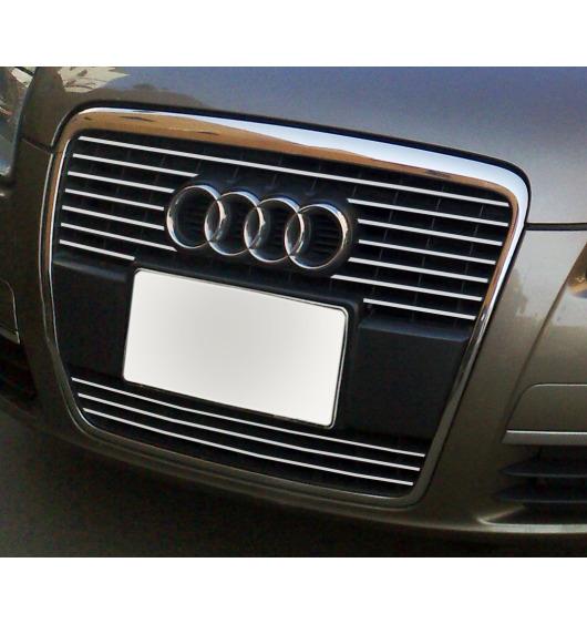 Radiator grill chrome moulding trim Audi A6 Série 3 Avant 05-08 & Audi A6 Série 3 Berline 05-08 v2