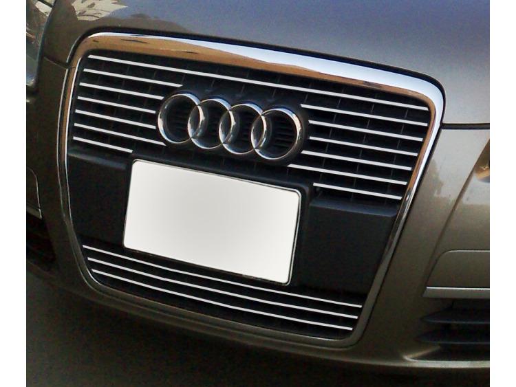 Baguette de calandre chromée Audi A6 Série 3 Avant 05-08 & Audi A6 Série 3 Berline 05-08 v2