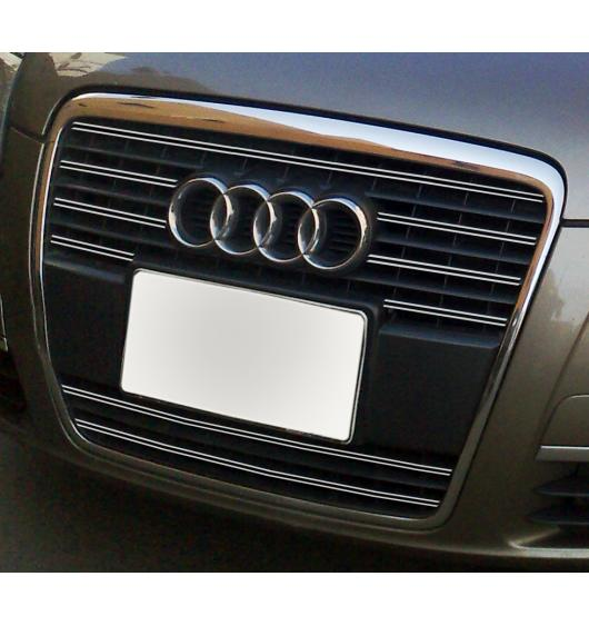 Radiator grill dual chrome trim Audi A6 Série 3 Avant 05-08 & Audi A6 Série 3 Berline 05-08 v1