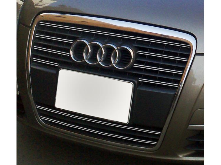Double baguette de calandre chromée Audi A6 Série 3 Avant 05-08 & Audi A6 Série 3 Berline 05-08 v1