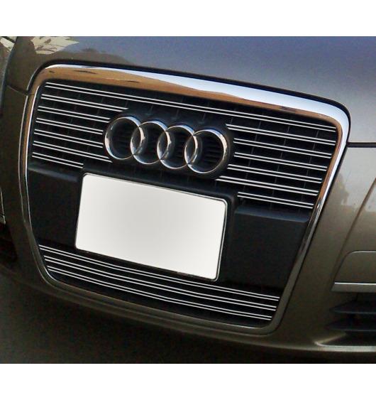 Double baguette de calandre chromée Audi A6 Série 3 Avant 05-08 Audi A6 Série 3 Berline 05-08 v2