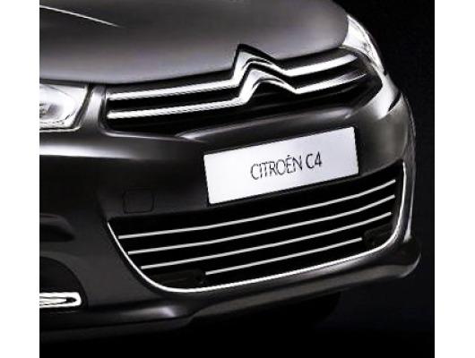 Radiator grill chrome moulding trim Citroën C4 1119