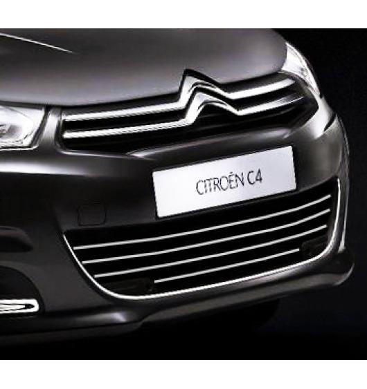 Radiator grill chrome moulding trim Citroën C4 11-21