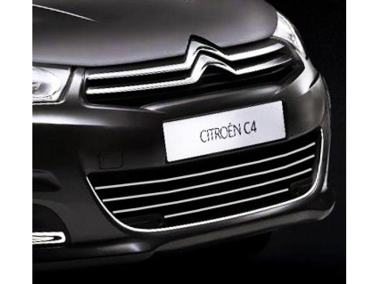 Chromleiste für Kühlergrill Citroën C4 11-21