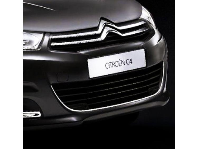 Radiator grill contours chrome trim Citroën C4 11-21