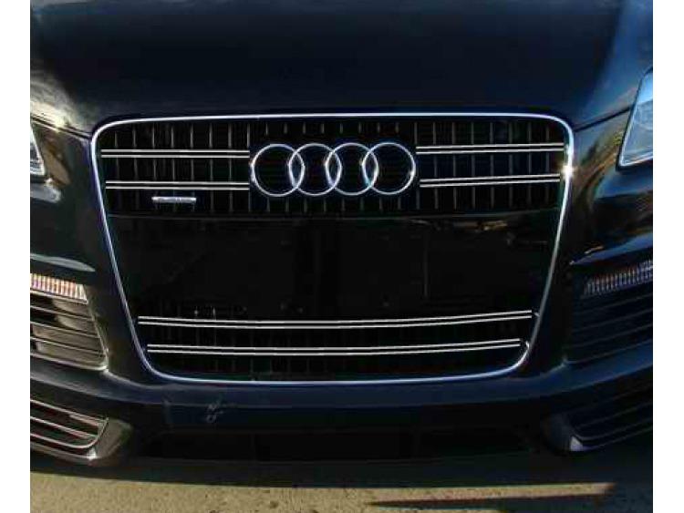 Doppia cornice per griglia radiatore cromata Audi Q7