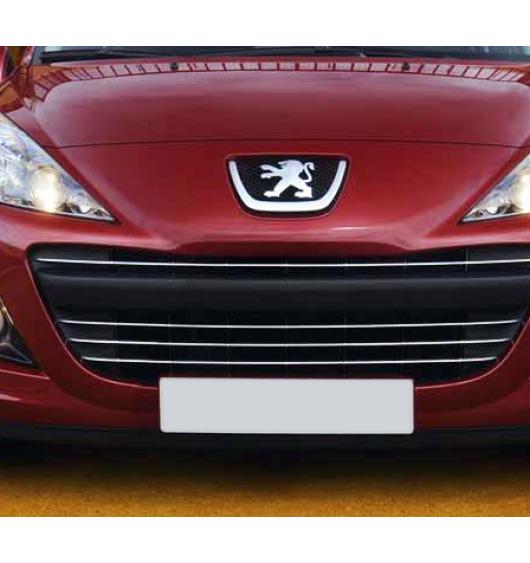 Chromleiste für Kühlergrill Peugeot 207 09-20 Peugeot 207 CC 09-20 Peugeot 207 SW 09-20