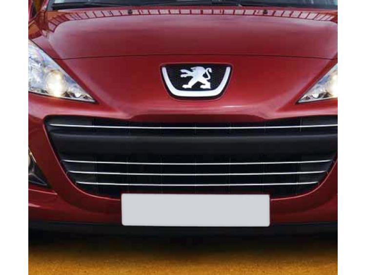Radiator grill chrome moulding trim Peugeot 207 09-21 Peugeot 207 CC 09-21 Peugeot 207 SW 09-21