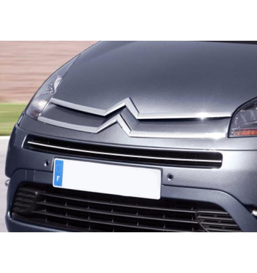 Baguette de calandre supérieure chromée Citroën C4 Grand Picasso (06-13)