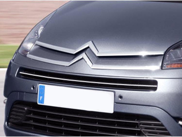 Upper radiator grill chrome trim Citroën C4 Grand Picasso (06-13)