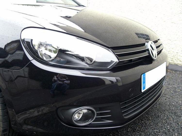 Moldura de calandria superior cromada VW Golf 6 & VW Golf 6 Cabriolet