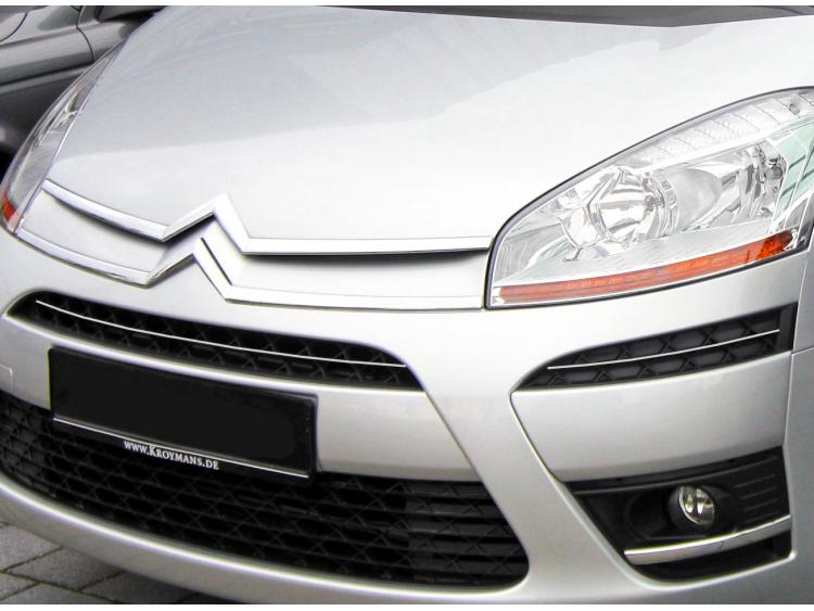 Upper radiator grill chrome trim Citroën C4 Picasso (07-12)