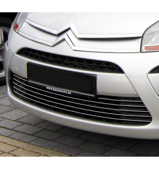 Lower radiator grill chrome trim Citroën C4 Picasso (07-12)