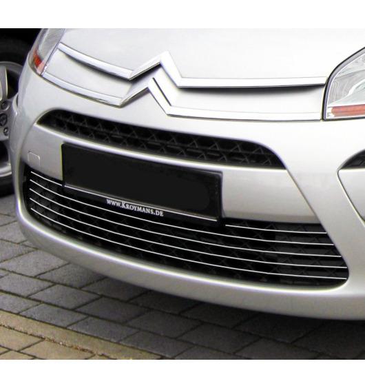 Zier-Chromleiste für Kühlergrill-Unterteil Citroën C4 Picasso (07-12)