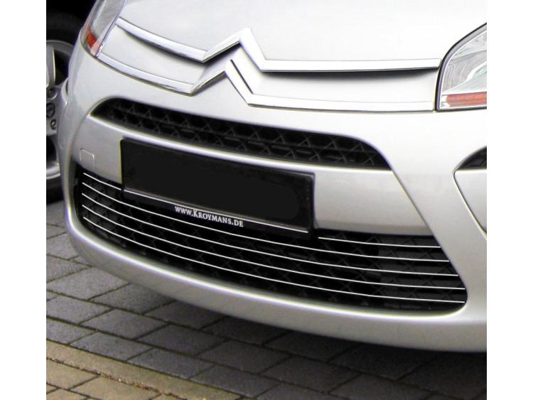 Lower radiator grill chrome trim Citroën C4 Picasso (07-12)