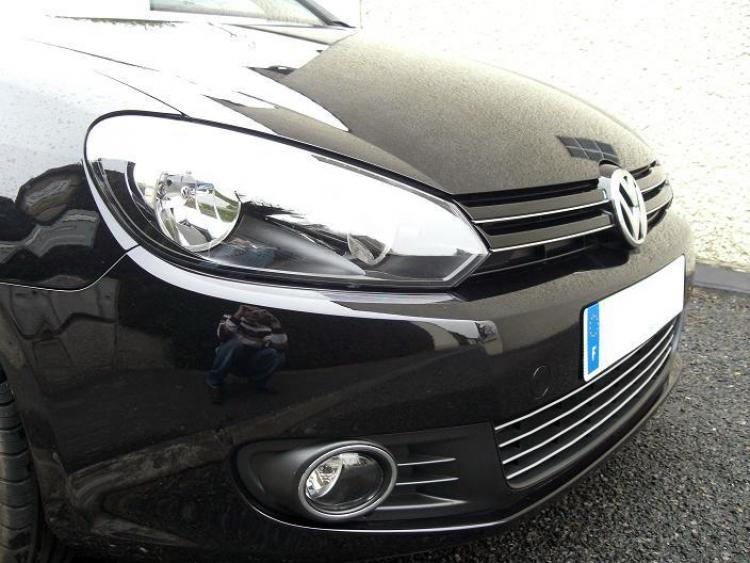 Lower radiator grill chrome trim VW Golf 6 & VW Golf 6 Cabriolet