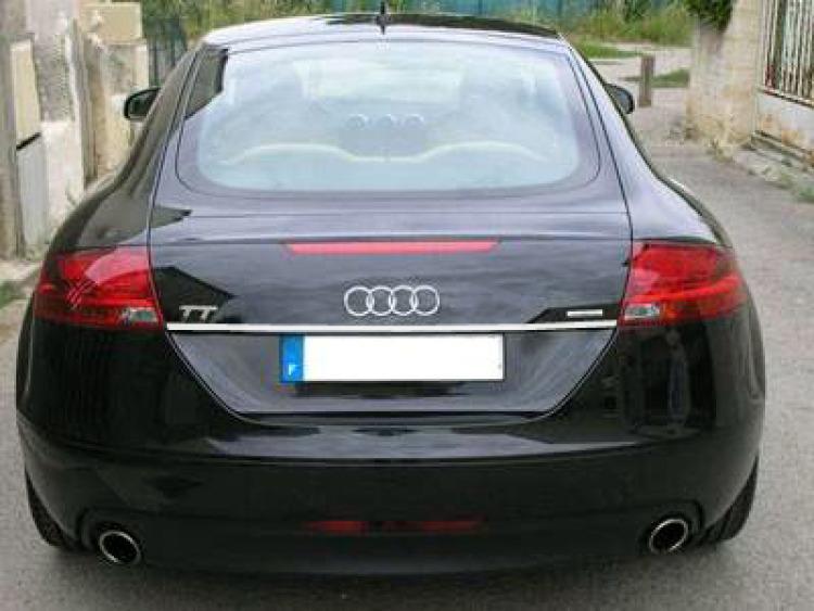 Fascia per bagagliaio cromata Audi TT Série 2 06-14 Audi TT RS Audi TTS