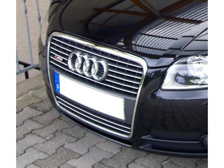 Chromleiste für Kühlergrill Audi A4 série 2 phase 2 04-08 & Audi S4 03-08 série 2 v1