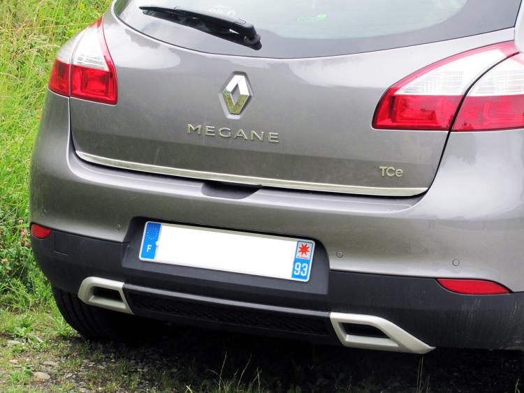 Trunk chrome trim Renault Mégane 3