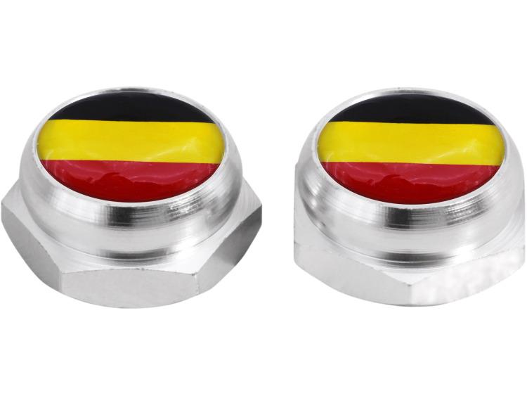 Cache-rivets pour plaque d'immatriculation Allemand Allemagne (argent)