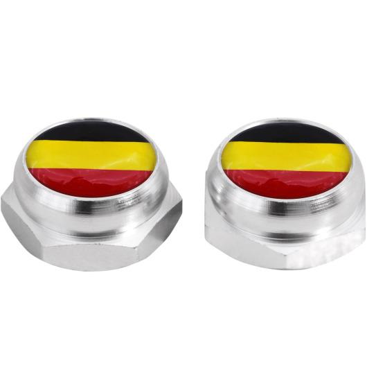 Cache-rivets pour plaque d'immatriculation drapeau Allemand Allemagne (noir)