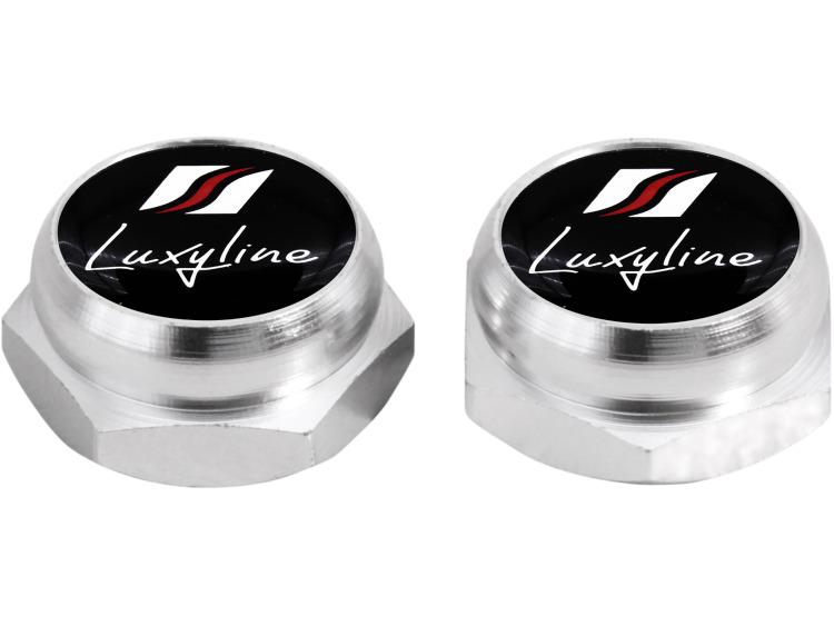 Cappucci per rivetti per targa di immatricolazione Luxyline (argenteo)