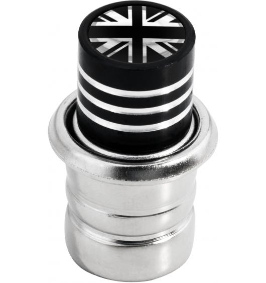 Cigarette lighter English Flag UK England British Union Jack black & chrome