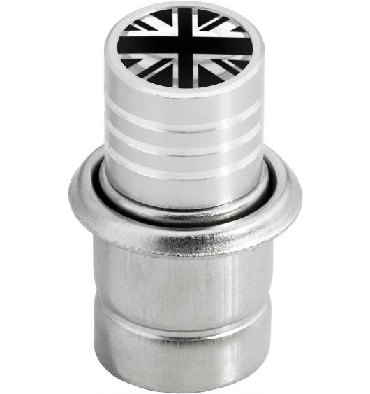 Cigarette lighter English Flag UK England British Union Jack black & chrome
